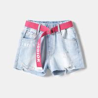 女童短裤夏季新款童装儿童牛仔破洞短裤薄潮中大童裤女童热裤