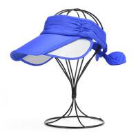 夏季伸缩空顶帽子女士户外防晒黑遮阳帽速干运动帽太阳帽