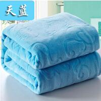 双面绒纯色加厚法兰绒 午睡空调毯珊瑚绒盖毯 法莱绒小毛毯子床单
