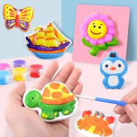 模具白胚陶瓷绘画 儿童手工diy制作玩具幼儿园创意石膏娃娃涂色画