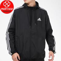 Adidas/阿迪达斯外套男装新款运动服休闲上衣宽松舒适连帽梭织夹克GK9026