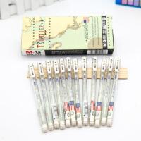 晨光67107国旗系列全针管中性笔0.38mm 方形笔杆碳素水笔