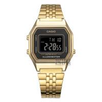 卡西欧手表时尚简约金色复古潮流女学生运动电子表LA680WGA-1B
