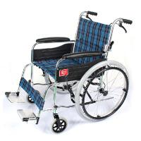 鱼跃手动轮椅车(可折背铝合金) H030C 可折叠老年人轮椅 男女适用