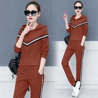 运动服套装女士春秋季2018新款时尚潮韩版运动时髦卫衣休闲两件套