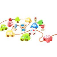 宝宝串串珠玩具穿线积木智力玩具男女儿童穿珠子1-2-3岁