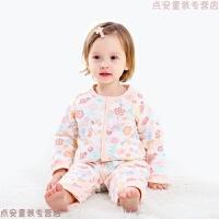 婴儿衣服冬季夹棉保暖棉衣新生儿加厚连体衣女宝宝爬服