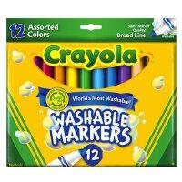crayola绘儿乐 12色可水洗长粗款儿童水彩笔宝宝涂鸦画笔 58-7812