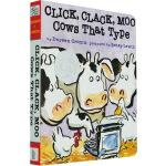 英文原版绘本 3 6岁 纸板书 Click, Clack, Moo Cows That Typek 凯迪克大奖 张湘君