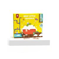 Pinwheel儿童逻辑思维训练早教益智类桌游小鳄鱼迷宫拼装积木玩具