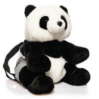 凯弘 熊猫公仔背包 亲子双肩包 儿童书包 毛绒包包玩偶