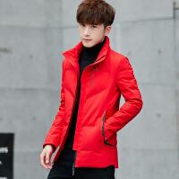 2018男士新款冬季立领轻薄羽绒服青年韩版修身帅气外套短款学生潮