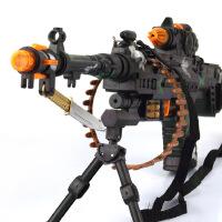 哈比比玩具  2665电动音乐发光玩具声光枪滚动军事儿童玩具枪迷彩模型437