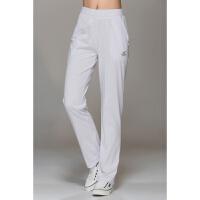 夏季薄款高腰白色运动裤女长裤夏天直筒棉宽松棉休闲中年女式