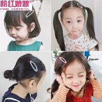 新款韩国毛线儿童发夹女彩色水滴BB夹成人刘海边夹头饰发饰潮针织