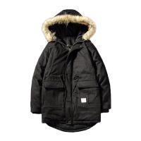 冬季新款中长款棉服男士韩版毛领连帽棉衣潮流学生棉袄外套男