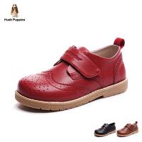 暇步士童鞋17年新款皮鞋男女童真皮儿童鞋小童绅士演出鞋英伦风 DP9080