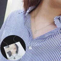 项链女韩版简约学生森系颈链短款网红锁骨链颈带脖链吊坠装饰