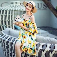 维绯2018夏季新款沙滩裙波西米亚吊带短裙泰国度假旅游裙子显瘦仙 黄色