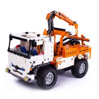 积木车电动遥控拼装6-10岁男孩组装模型玩具