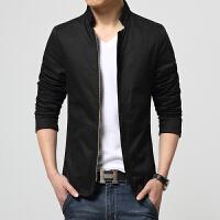 新款男士秋冬季夹克棒球领韩版修身时尚休闲男装外套加大码