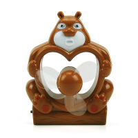 熊出没造型USB充电风扇(83013)--棕色 JR8208