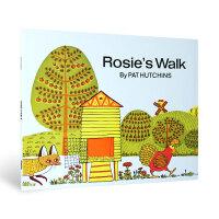 英文原版绘本 母鸡萝丝去散步 Rosie's Walk Pat Hutchins 廖彩杏有声书单 3-6岁入门启蒙早教