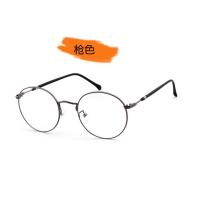 文艺金丝边眼镜轻近视眼镜框镜架女复古大框平光镜男圆脸