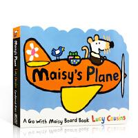 小鼠波波系列 英文原版Maisy's Plane 飞机 交通工具纸板造型儿童启蒙阅读英文读物绘本 小鼠波波准备的生日惊