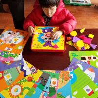 颗粒蘑菇钉幼儿拼图儿童男孩女童早教智力宝宝玩具1-2-3-6周岁