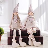 家居可爱吊脚娃娃摆件创意个性田园小装饰摆设饰品布偶工艺品大号