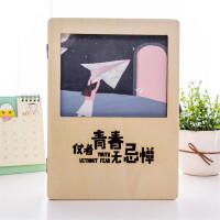 复古木盒同学录女生创意唯美个性活页留言册盒装初中生毕业纪念册