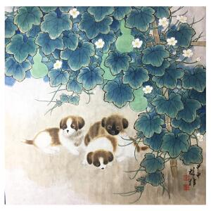 方楚雄《狗2》著名画家
