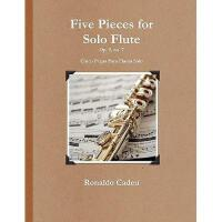 【预订】Five Pieces for Solo Flute