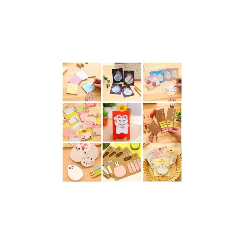 【满9.9元包邮】韩国创意可爱办公可撕便利贴 卡通N次贴 留言便签 小本子 记事贴