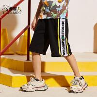 【3件2折:41.8元】小虎宝儿童装男童五分裤夏季薄款2021款儿童运动短裤中大童韩版
