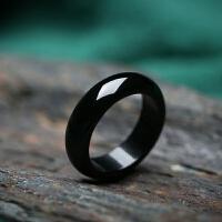 黑玛瑙男女款指环水晶饰品赌神戒指情侣款百搭