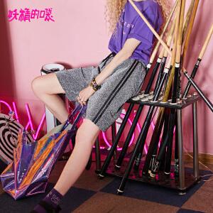 【限时直降:72】妖精的口袋欧货裙子新款冷淡风裙子短袖学院连衣裙女