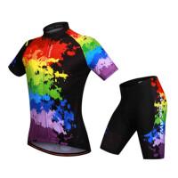 骑行服套装男短袖 夏季山地车自行车透气速干吸湿排汗单车服