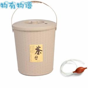 物有物语 茶渣桶 茶渣桶塑料桶茶道茶盘桶过滤茶桶茶叶垃圾桶多功能茶具配件茶水桶