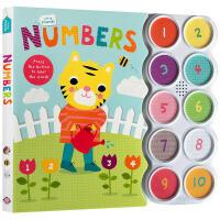 英文原版 Little Friends Sound Book: Numbers 启蒙儿童认知数字单词汇 亲子互动阅读1