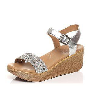 Tata/他她2017年夏季专柜同款时尚优雅水钻坡跟女皮凉鞋2NTB5BL7