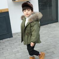 儿童棉衣男童羽绒2018新款冬装加厚小孩中长款宝宝棉袄外套潮