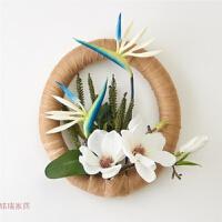 新中式风格挂件仿真植物家居墙饰客厅壁饰餐厅壁挂门楣装饰花环