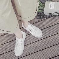 春季新款小白鞋女舒适百搭系带板鞋女韩版时尚可爱装饰休闲鞋女