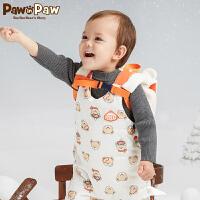 【3件4折 到手价:159】Pawinpaw卡通小熊童装冬纯色男宝宝毛衣幼儿冬款保暖