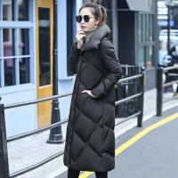 长款棉衣女长过膝冬季加厚高端大气2017新款韩版宽松棉袄外套