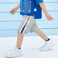 迷你巴拉巴拉男童运动中裤2019夏季新款儿童纯棉透气休闲裤子短款