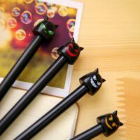 韩国文具 天使恶魔创意中性笔 学生用可爱水性笔 签字笔0.38mm 4根1组 颜色随机