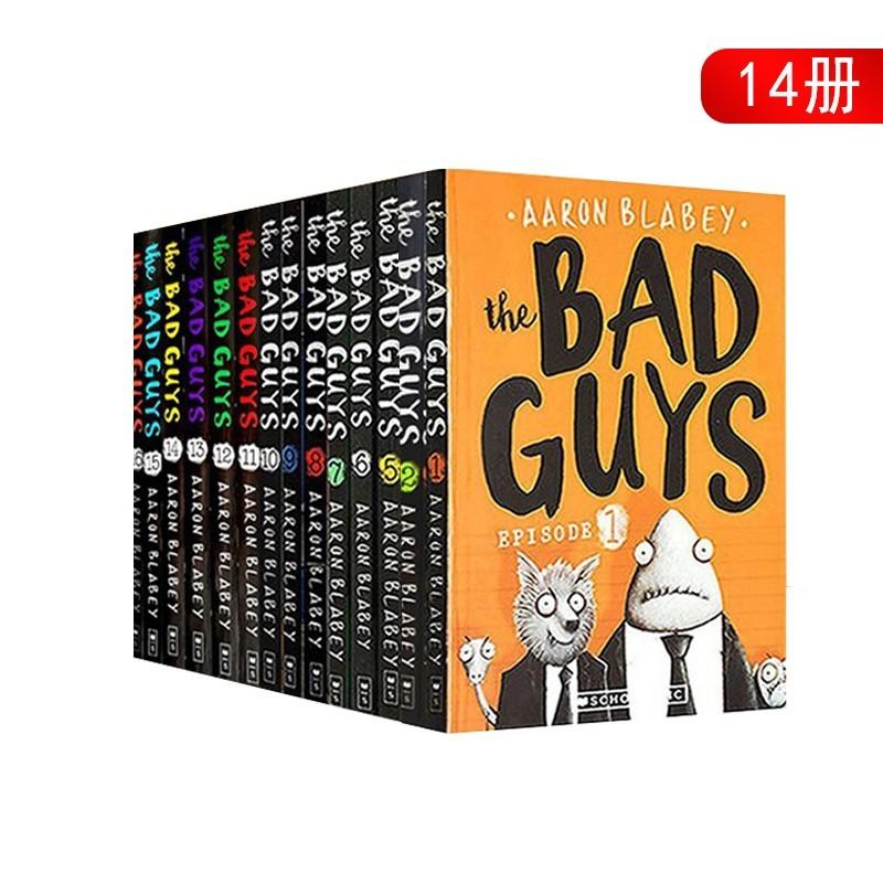 坏家伙 英文原版小说入门级 The Bad Guys 8册套装 儿童书 我是大坏蛋 漫画绘本小说桥梁书